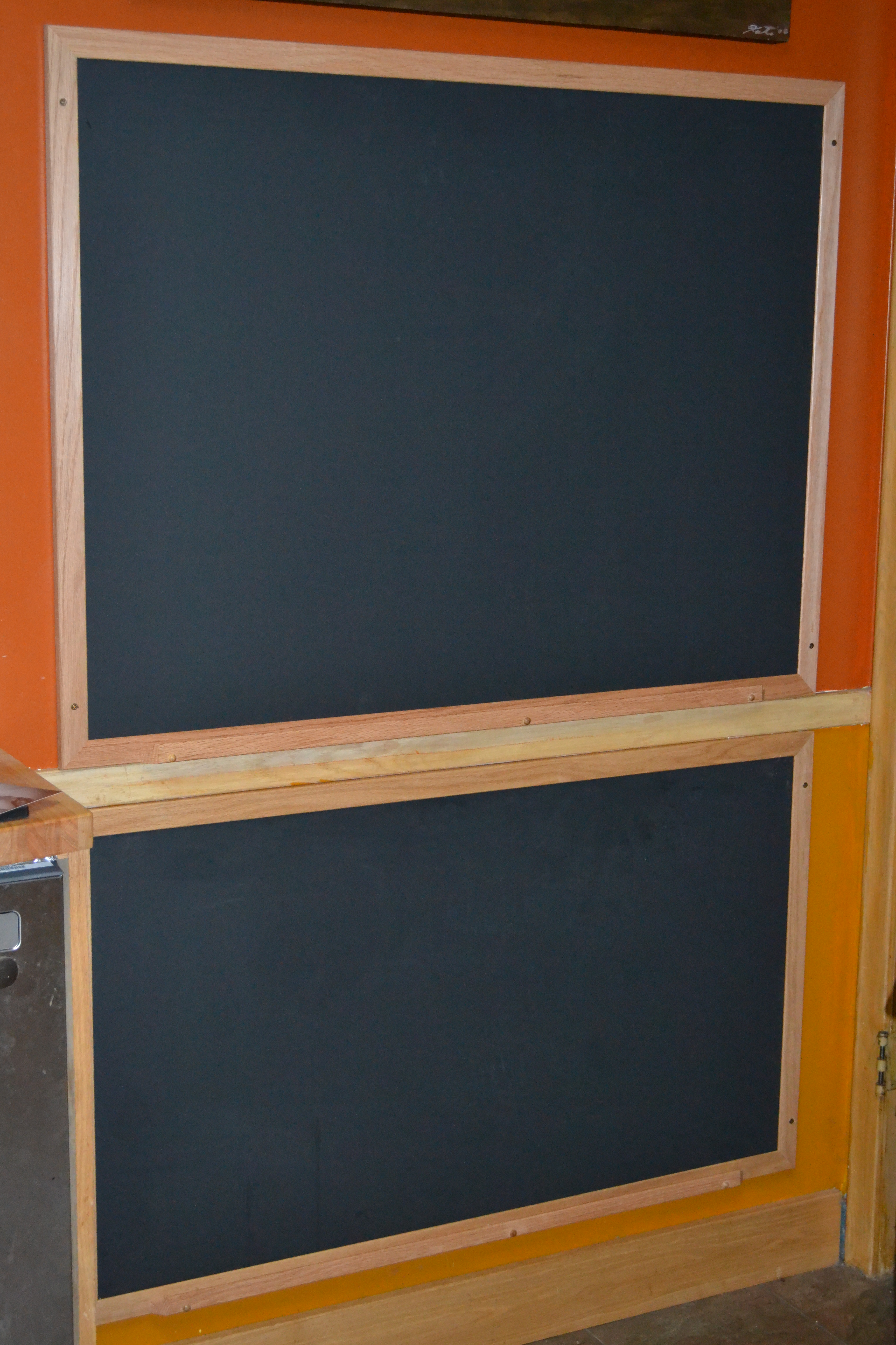 Chalkboard For Kitchen Northern Hardwood Frames Kitchen Chalkboard Fun